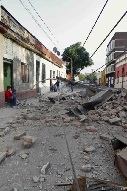 Earthquake in Chile streets