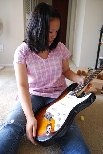 she got her first guitar