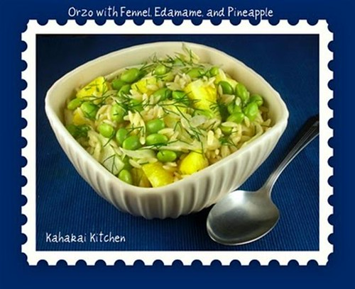 Kahakai Kitchen's Orzo with Fennel, Edamame, and Pineapple