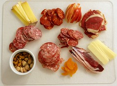 Charcuterie Platter Chez Rene (Rene S. Suen) Tags: game apple cheese duck chili almond sausage moo merida rosemary traderjoes getty apricot chorizo lime nut truffle fennel gala oyama cashew cheddar prosciutto salami gettyimages saucisson charcuterie wildboar comt finocchiona saucissonsec fromreneskitchen marconaalmond oyamasausageco