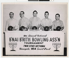 Lucky Strike bowlers from the B'nai B'rith Bowling Association