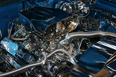 Chrome plated power (osubuckialum) Tags: show chevrolet car triangle power engine favorites raleigh chevelle chevy chrome hotrod motor myfavorites carshow streetrod 2010 raleigharea