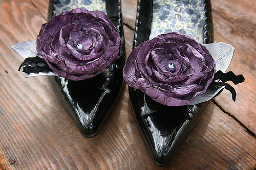 Purple Shoe Clips