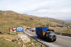 TRUCKING IN LEBANON (Claude  BARUTEL) Tags: road lebanon truck mercedes transport eat middle beirut trucking