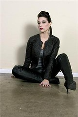 Seven Seven Motos (RikkiEver) Tags: girl fashion model photoshoot natural boots makeup rocker hairstyle pomp thighhighboots transmission77 sevensevenmotos rikkiever