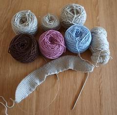 Argyle jumper - undone