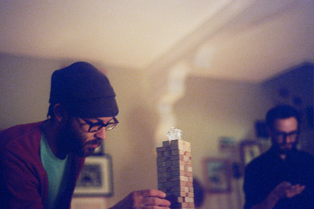 jenga with added ice cube