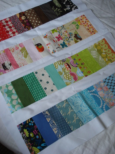colourful baby quilt top