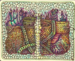 Rapunzel's Castle (molossus, who says Life Imitates Doodles) Tags: journal zentangle zendoodle zentangleinspiredart