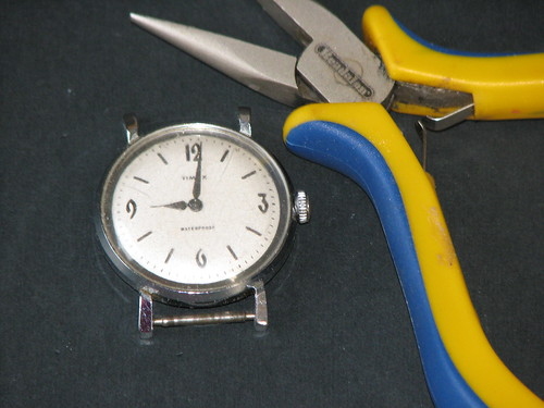 recycled watch necklace 001
