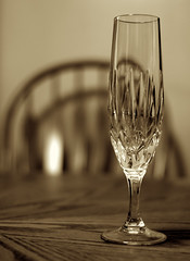 Champagne Flute (Catskills Photography) Tags: stilllife sepia champagneflute canon35mmf2lens ourdailychallenge