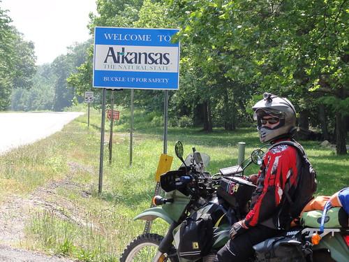 Entering Arkansas