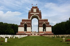 Thiepval memorial to the missing of the Somme, 15 June 2011