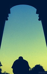 Looking for A man under the arch???!!! (chatter.nik) Tags: shadow man monument silhouette arch