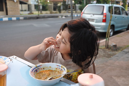 enjoying bubur