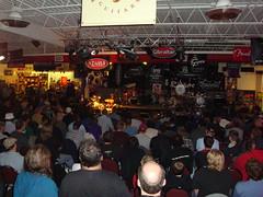 Rodney Holmes & the crowd at Drummerfest 2009 (InterstateMusic) Tags: festival wisconsin drums milwaukee drummer drumming 2009 musicstore newberlin drumfestival tamadrums drumclinic cascio freeevent rodneyholmes meinlcymbals casciointerstatemusic interstatemusic drummerfest