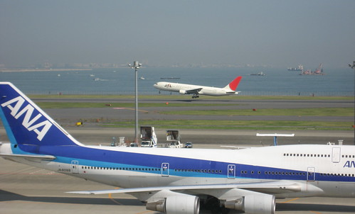 JAL and ANA at Haneda