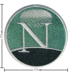 AD0046 - AD Netscape Navigator Web Browser Logo Iron Patch (ShinyshineStore) Tags: iron patches embroidered advertise