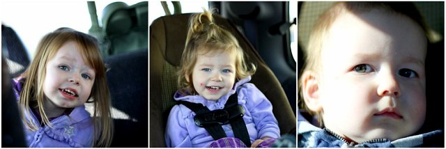 3 kids in the car