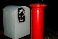 21 / 365 (Harry Nicholas Roberts) Tags: uk black art love ex mailbox graffiti stencil paint panda modernart sticky harry urbanart spraypaint roberts royalmail pandastencil nikond3000 harryrobertsftw