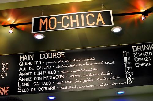 MO-CHICA MENU