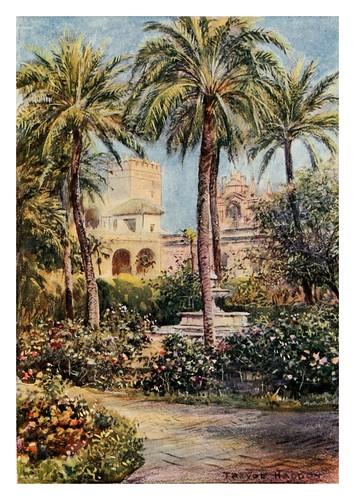 003-Sevilla Jardines del Alcazar-Southern Spain 1908- Trevor Haddon