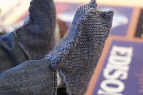 slippers, pre-felting