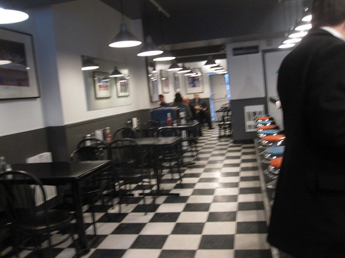 Stealth pic of the newly renovated McGill hot-dog
