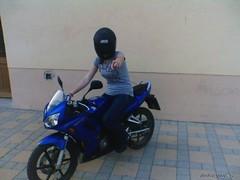 (Einzelkind89) Tags: woman sexy girl helmet motorbike riding frau helm motorrad motorcyclegirl darkvisor