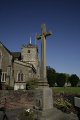 houghton,sussex. (Adam Swaine) Tags: county uk blue yards england sky english church beautiful rural canon landscape sussex memorial war village cross westsussex britain villages norman 2009 1740mm counties adamswaine wwwadamswainecouk