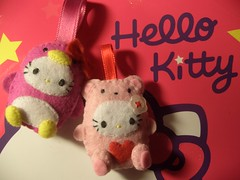 KiTTyy** (PrincezzMischa) Tags: hello bear pink cute toy penguin diy heart handmade hellokitty sewing kitty rosa craft sew felt kawaii feltro gatto cuore pinguino gattino orsetto pannolenci