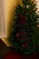 Eva's stocking, pre-felting