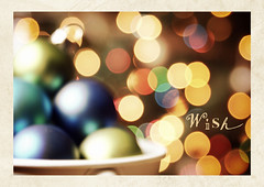 A mother's Christmas wish (Cosi!) Tags: christmas december bokeh ornaments wish owp coffeeshopaction