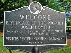 Birthplace of Joseph Smith - welcome sign (origamidon) Tags: usa sign vermont sharon signage birthplace welcome josephsmith lds vt 1905 bookofmormon 1805 churchofjesuschristoflatterdaysaints granitemonument birthplaceoftheprophet sharonvermontusa