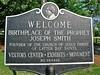 Birthplace of Joseph Smith – welcome sign (origamidon) Tags: usa sign vermont sharon signage birthplace welcome josephsmith lds vt 1905 bookofmormon 1805 churchofjesuschristoflatterdaysaints granitemonument birthplaceoftheprophet sharonvermontusa