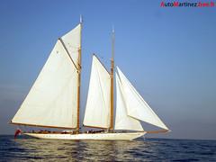 The white sailboat on the sea blue (Automartinez) Tags: sea mer sailboat soleil boat eau bleu mat bateau voile blanc alban voilier coque mditerrane joachin mediterranenne
