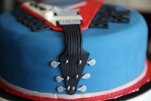 Flying V Guitar Birthday Cake Image Inspiration of Cake and