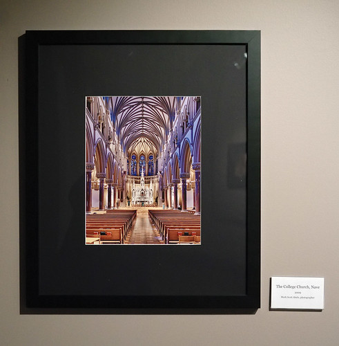 Saint Louis University Museum of Art, at Saint Louis University, in Saint Louis, Missouri, USA - exhibit for 125th anniversary of Saint Francis Xavier Church - photograph of the nave of the church by Mark Scott Abeln