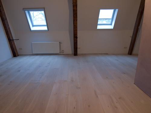 Houten Slaapkamervloer : Maar vooral, vooral om de twee spanten die er ...