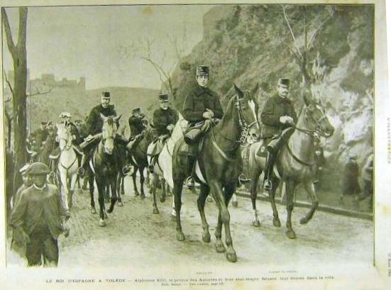 Alfonso XIII visita Toledo en 1904. Revista L´Illustration
