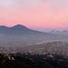 Tramonto sul Vesuvio.