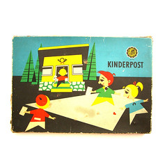 Kinderpost (Wooden donkey) Tags: vintage toy stamp