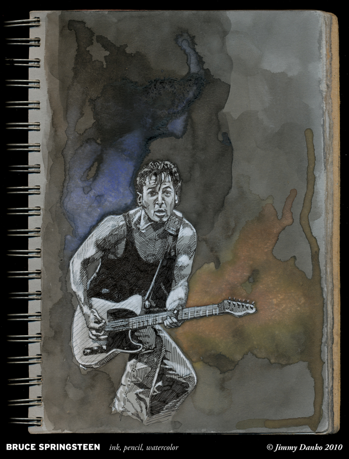 Sketch of the Day 1-5-2009: Springsteen