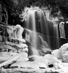 Icecapades (JLMphoto) Tags: county bw cold ice nature rock forest georgia landscape waterfall freezing falls national freeze icicles rabun chattahoochee naturesfinest badbranchfalls jlmphoto