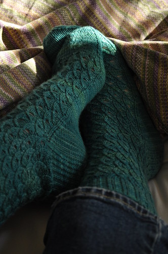 Shell Socks Knitting Vintage Socks