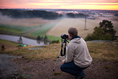Sweet September Sunset Shoot (neatmummy) Tags: from sunset mist nature field fog canon finland landscape eos 50mm shoot photographer dof bokeh mark f14 tripod snapshot september ii archives 5d shallow finnish depth moisture auringonlasku linnavuori 5dmarkii