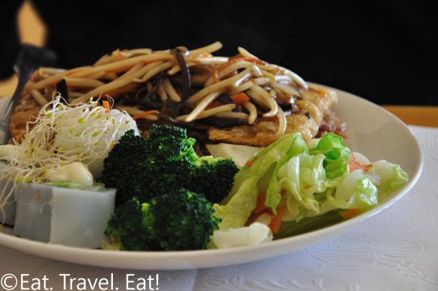 Tofu Puff Lunch Plate