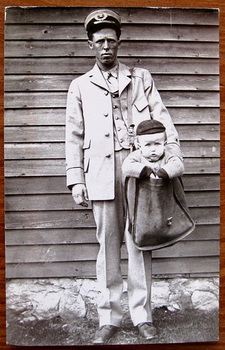 Parcel post toddler postcard