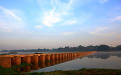 Love is the bridge... (D a r s h i) Tags: bridge reflection water canon eos pune darshi kavdi darshita 1000d
