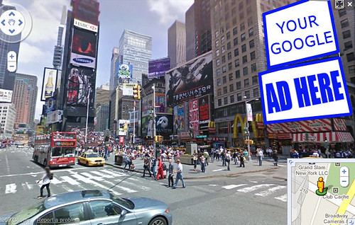 Photo Illustration - Virtual Product Placement in Google Street View